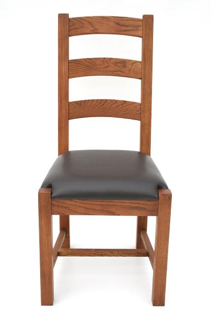 Boston Solid American Oak Chairs With Dark Brown Or Black Leather Pads