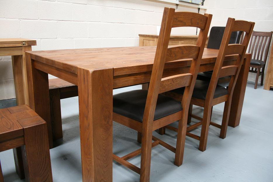 boston solid oak dining tables benches stools chairs