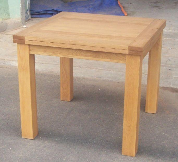 Perfect Flip Top Square Oak Dining Table shown below, 100cm x 50cm extending  683 x 623 · 66 kB · jpeg