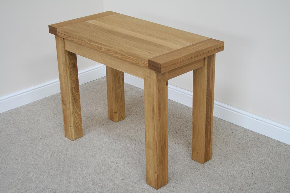 Flip top oak dining tables narrow folding console tables for Best dining tables uk