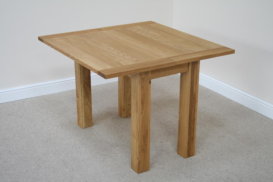 Flip Top Oak Dining Tables | Narrow Folding Console Tables