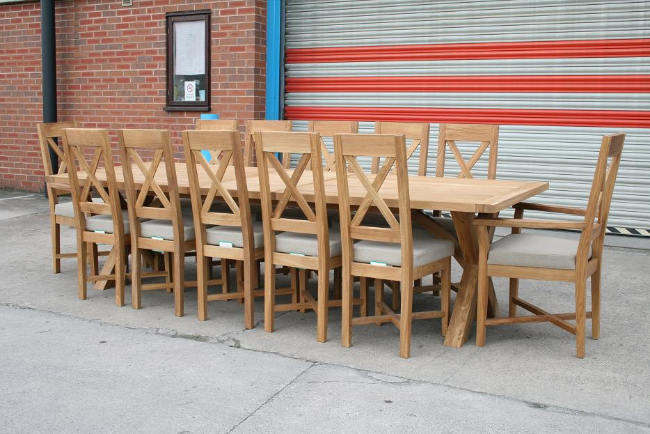 Kitchen Table And Chairs Uk Large dining table seats 10 12 14 16 people huge big tables workwithnaturefo