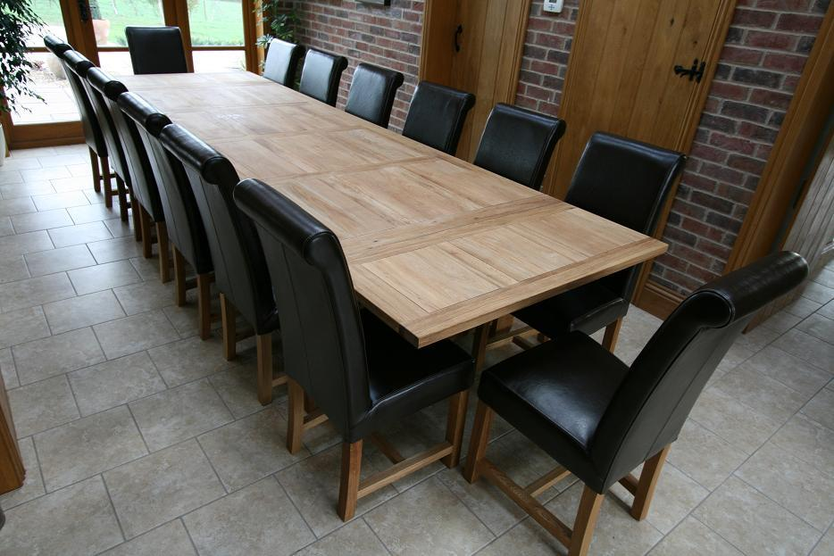 Refectory tables refectory oak dining table large for Large dining table