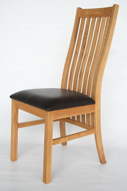 The Stunning New Lichfield Dining Chair Solid American Oak And Real Leather