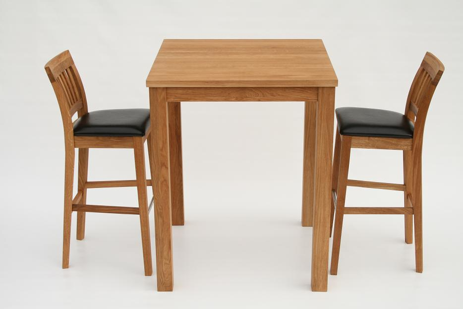Solid Oak Bar Breakfast Table 2 Java Stools 25 Off Ebay