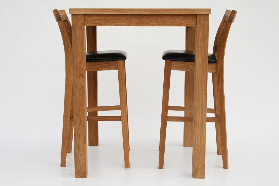 Solid Oak Bar Breakfast Table Amp 2 Java Stools 163 25 Off Ebay