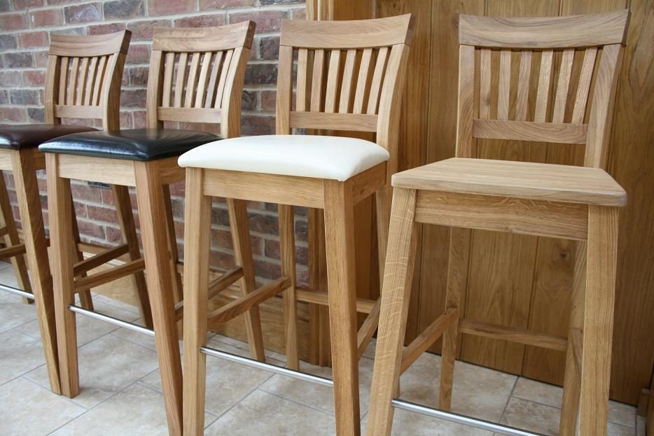 Oak Bar Stools Kitchen Stools Tall Oak Breakfast Bar Stools
