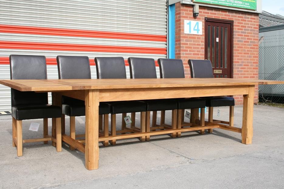 Refectory Tables Refectory Oak Dining Table Large