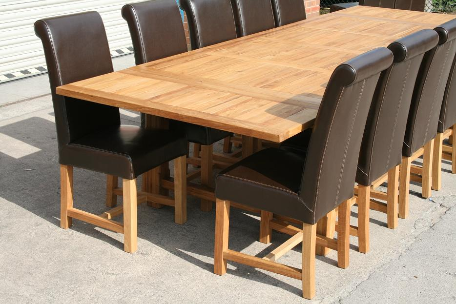 Large Huge Massive 10 12 14 Seat Oak Dining Table EBay