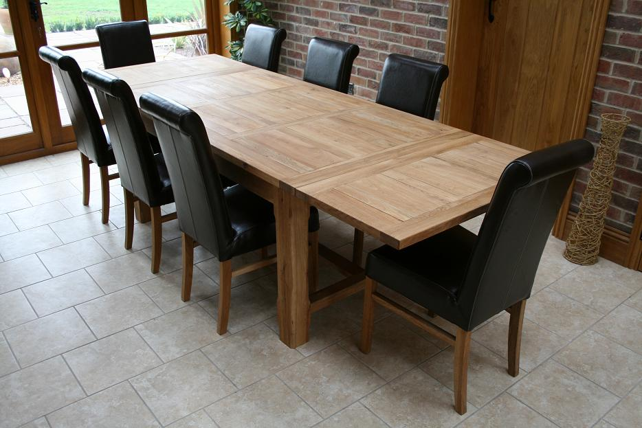 Oslo solid oak dining furniture oak sideboards large for Dining room 12 seater table