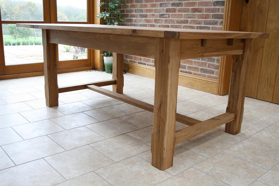 Stunning, The Classic Lines Of The Solid Oak Refectory Table