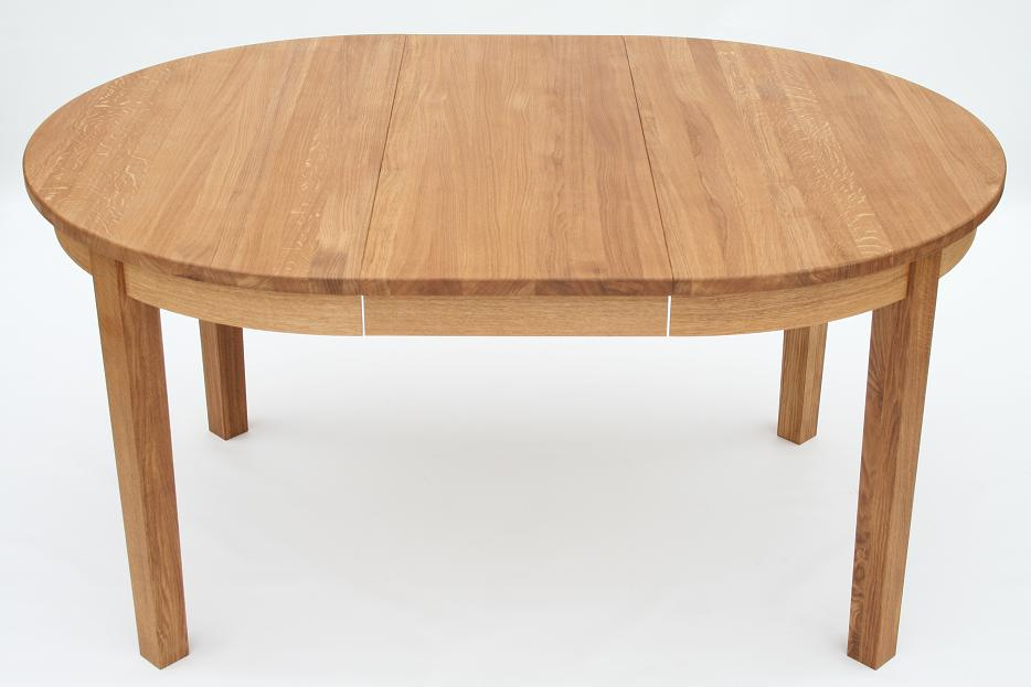 With A Single Central Extension Added The Round Table Transforms Into A  Stunning Oval Shaped Table.