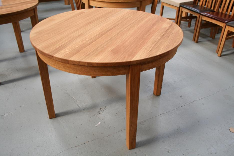 Table 110 Cm Solid Wood Brown Dining Table 110 Cm