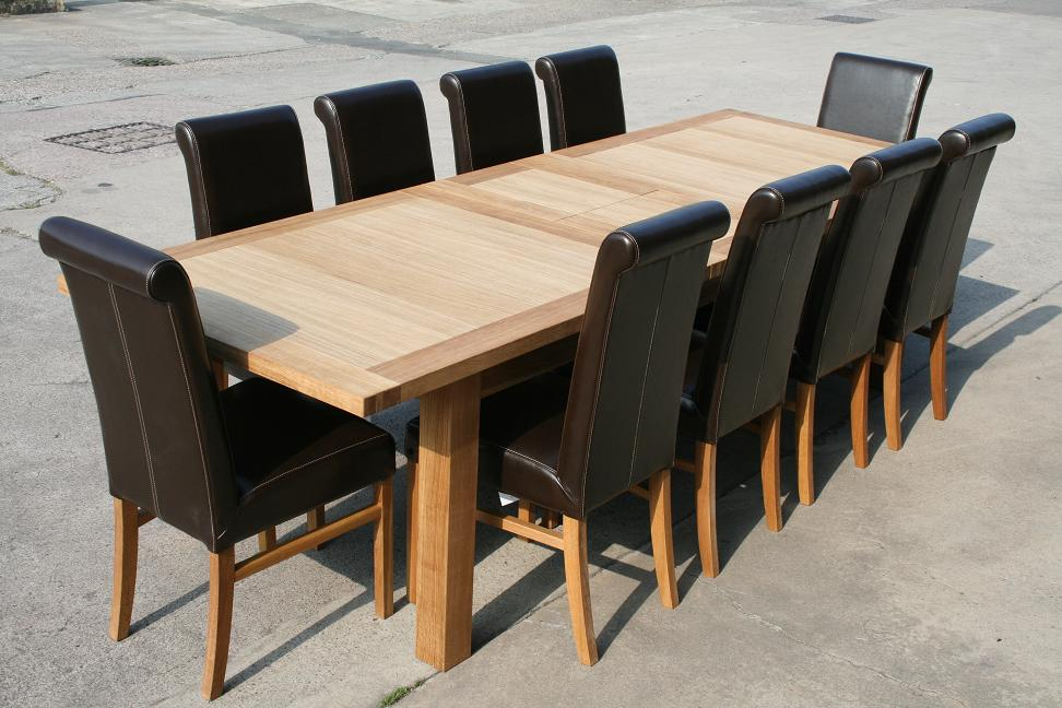 Very large huge massive oak dining table ebay for Large dining room table