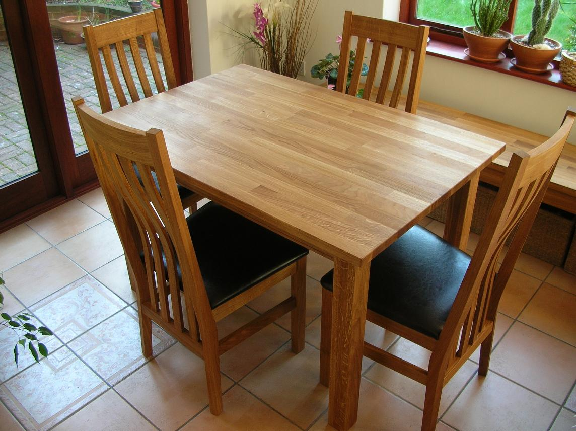 Minsk solid oak kitchen tables and chair sets buy this table for just 199 now in our sale or 249 with a 40cm extension workwithnaturefo