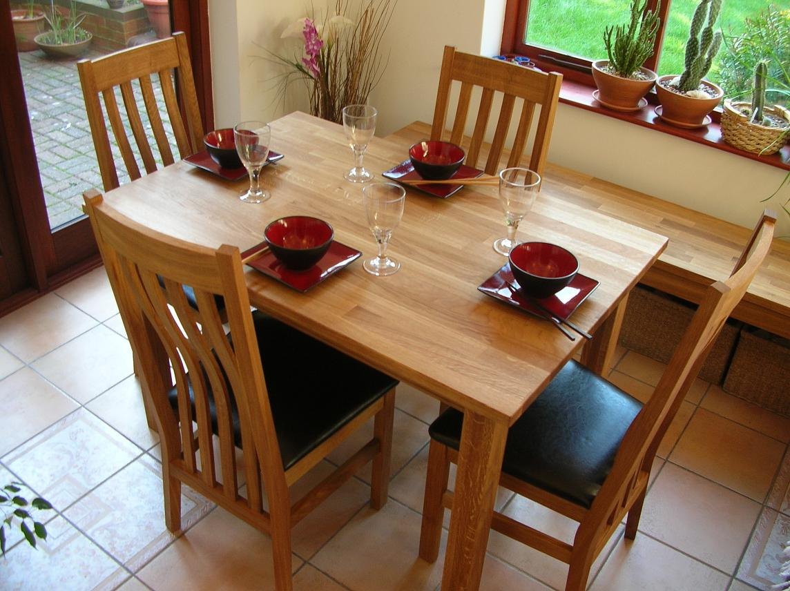 Minsk Solid Oak Kitchen Tables and Chair sets