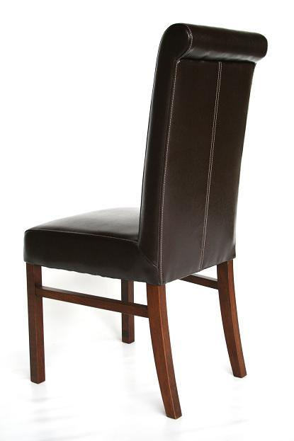 TRIANGLE DINING CHAIRS WITH 3 LEGS Chair Pads amp Cushions : Emperor Brown Leather Dining Chair Dark Leg 3 from chaileather.net size 415 x 623 jpeg 33kB