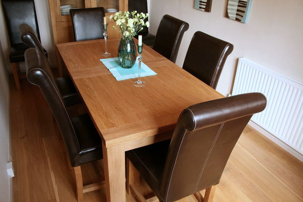 Luxury Dining Room Table And Chairs: Full Leather Titan Chairs