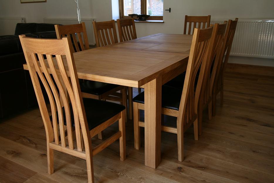 b830b67898 Tallinn Oak Dining Sets | Solid Oak Dining Table Sets