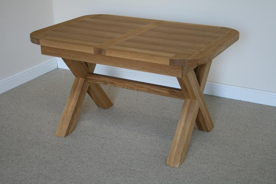 Small Dining Tables Compact Dining Tables Small Oak Tables : Provence Small Cross Leg Oval End Oak Dining Table 1 from www.oakdiningsets.co.uk size 934 x 623 jpeg 75kB