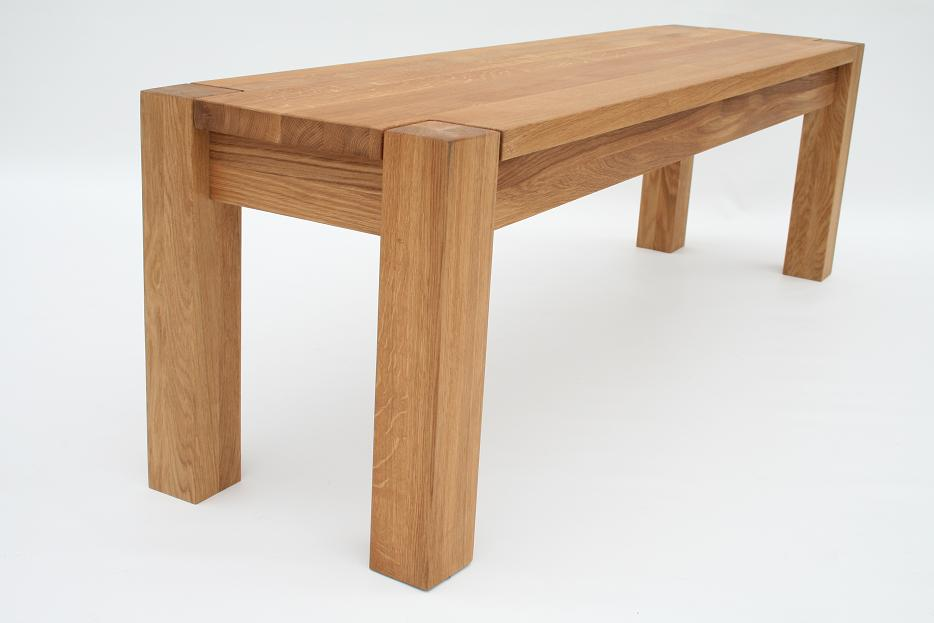 Solid oak bench oak dining and kitchen oak benches for Solid oak dining table
