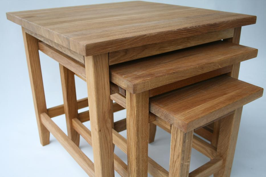 All of our European oak furniture is made in the same oiled oak finish so  that it will match well together.