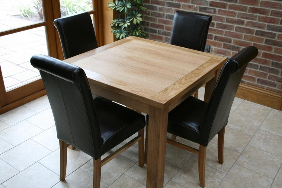 Cheap dining tables and chairs from oakdiningsets for Best table for small square dining room
