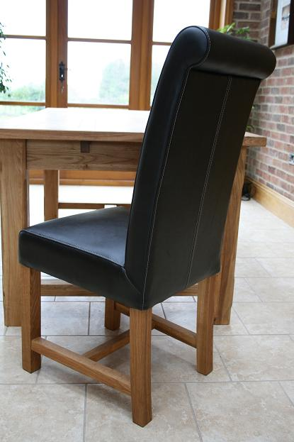Titan Black Leather Chair, £109.99 Each
