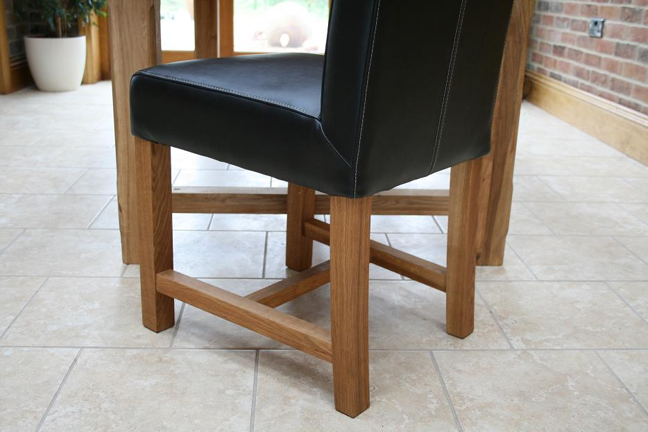 Titan Full Leather Chair Scroll Back Leather Dining