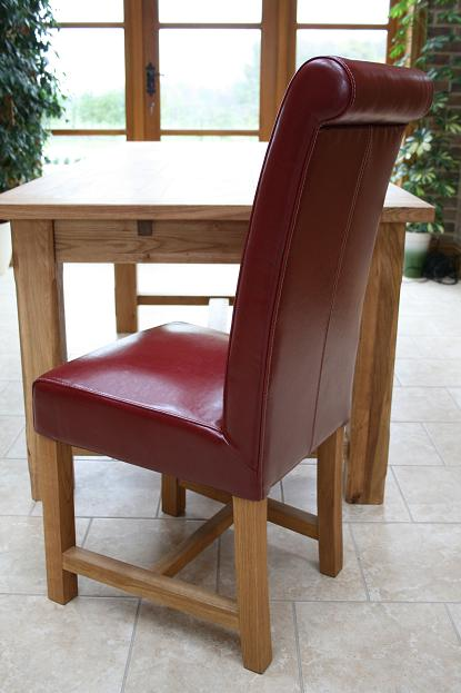 Titan Claret Red Leather Chair GBP10999 Each