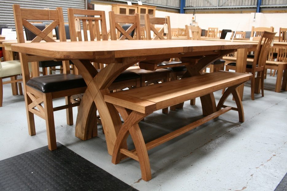 Country Oak Furniture Rustic Oak Dining Table Furniture
