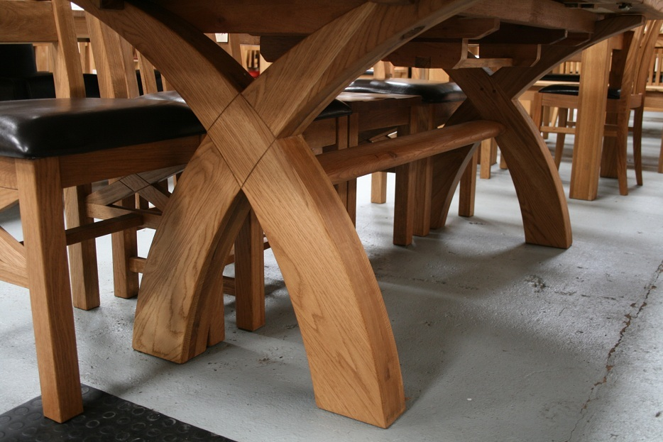 Country Oak Furniture | Rustic Oak Dining Table Furniture - Oak Dining ...