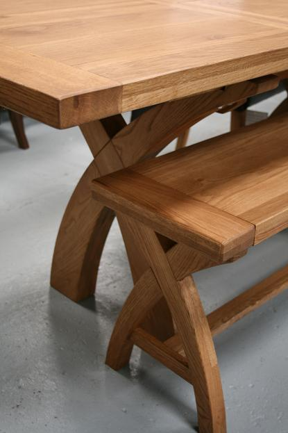 Country oak furniture rustic oak dining table furniture for Table 3m long