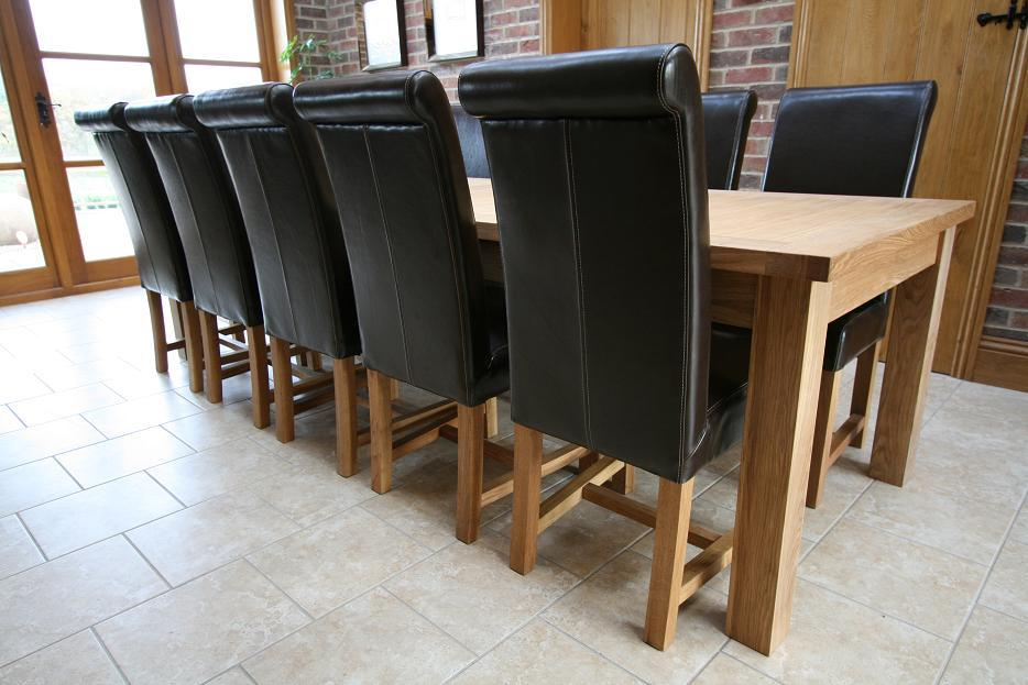 Large dining table seats 10 12 14 16 people huge big for 10 seater oak dining table and chairs
