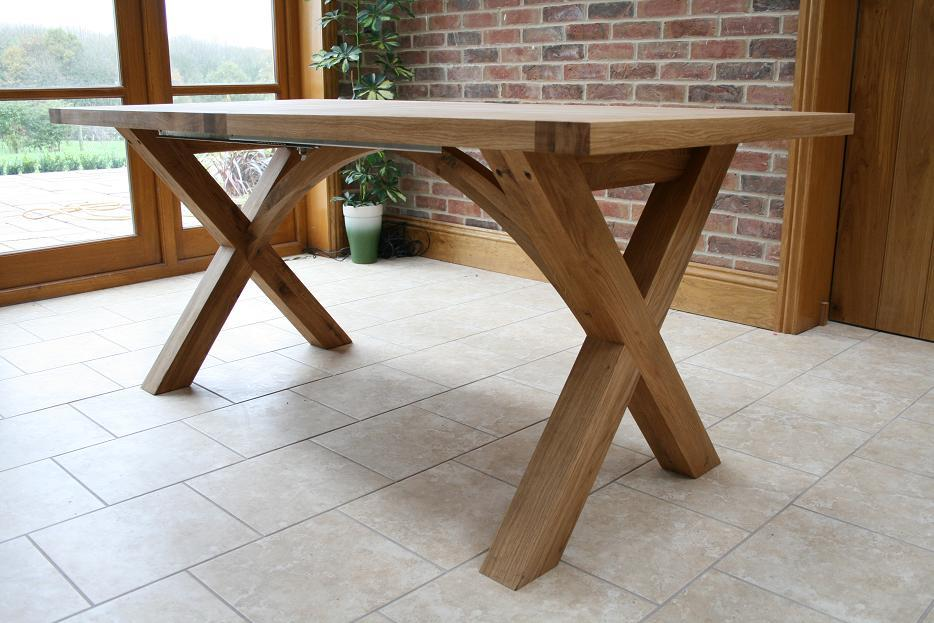 The Provence Cross Leg Design Of Oak Dining Table