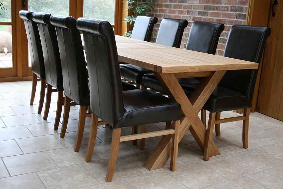 Cross Leg Dining Tables Extending X Oxbow Table