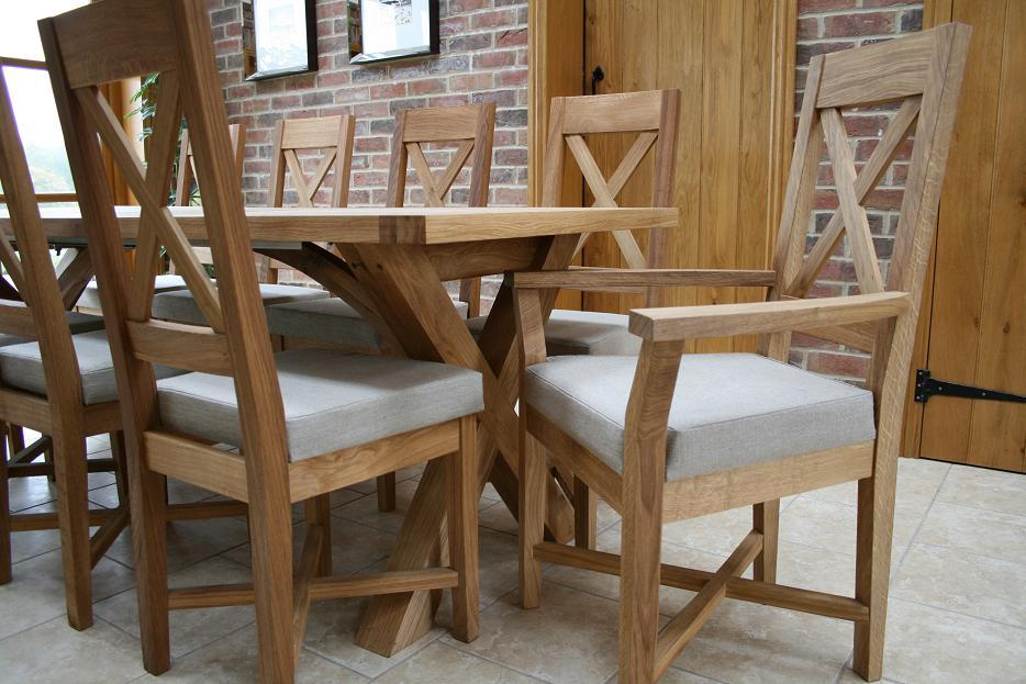 Cross Leg Dining Tables Extending X Leg Tables Oxbow Table : Cross Leg Oak Extending Dining Table 8 from www.oakdiningsets.co.uk size 934 x 623 jpeg 106kB