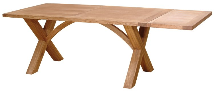 New X Cross Leg Dining Table design - Samples currently being made for us.  Images on request or pre order now.