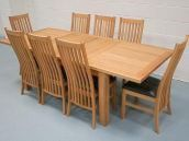 Table Just �399, Chairs �84.99, 8 Chair Set just �999.  Limited offer for this amazing double extending dining set !