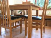 Minsk Oak Dining Table Set with Winchester chairs, table just �199 !