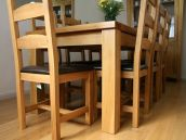 Tallinn European oak table dining set with Charlton oak dining chairs @ �89.99 each