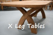 Buy this cross leg oval table for just £499 in solid American chunky oak