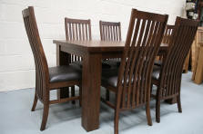 The Stunning Lichfield Chair Design In Solid American Walnut Just GBP9999 Each A Real Leather Pad