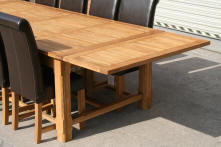 Rustic solid oak appearance shows off the quality of the solid oak.