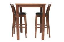 Tall Solid Walnut Breakfast Bar Table, Dimensions   80cm X 80cm X 100cm High.  27mm Tops And 70mm Legs